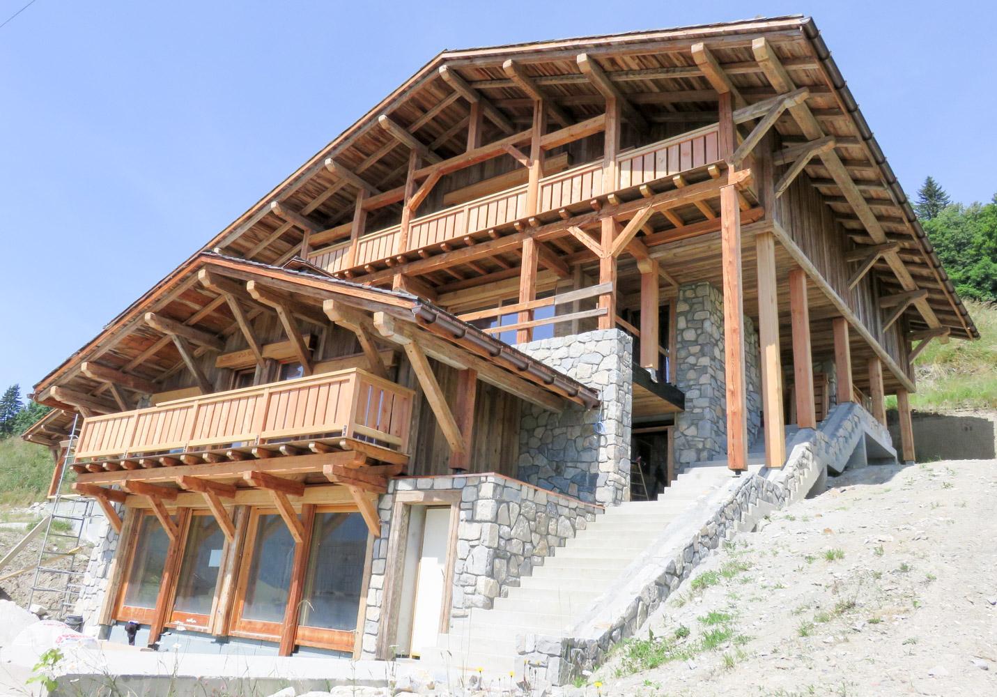 Charpente bottollier cordon haute savoie 74 charpente - Balcon en bois ...