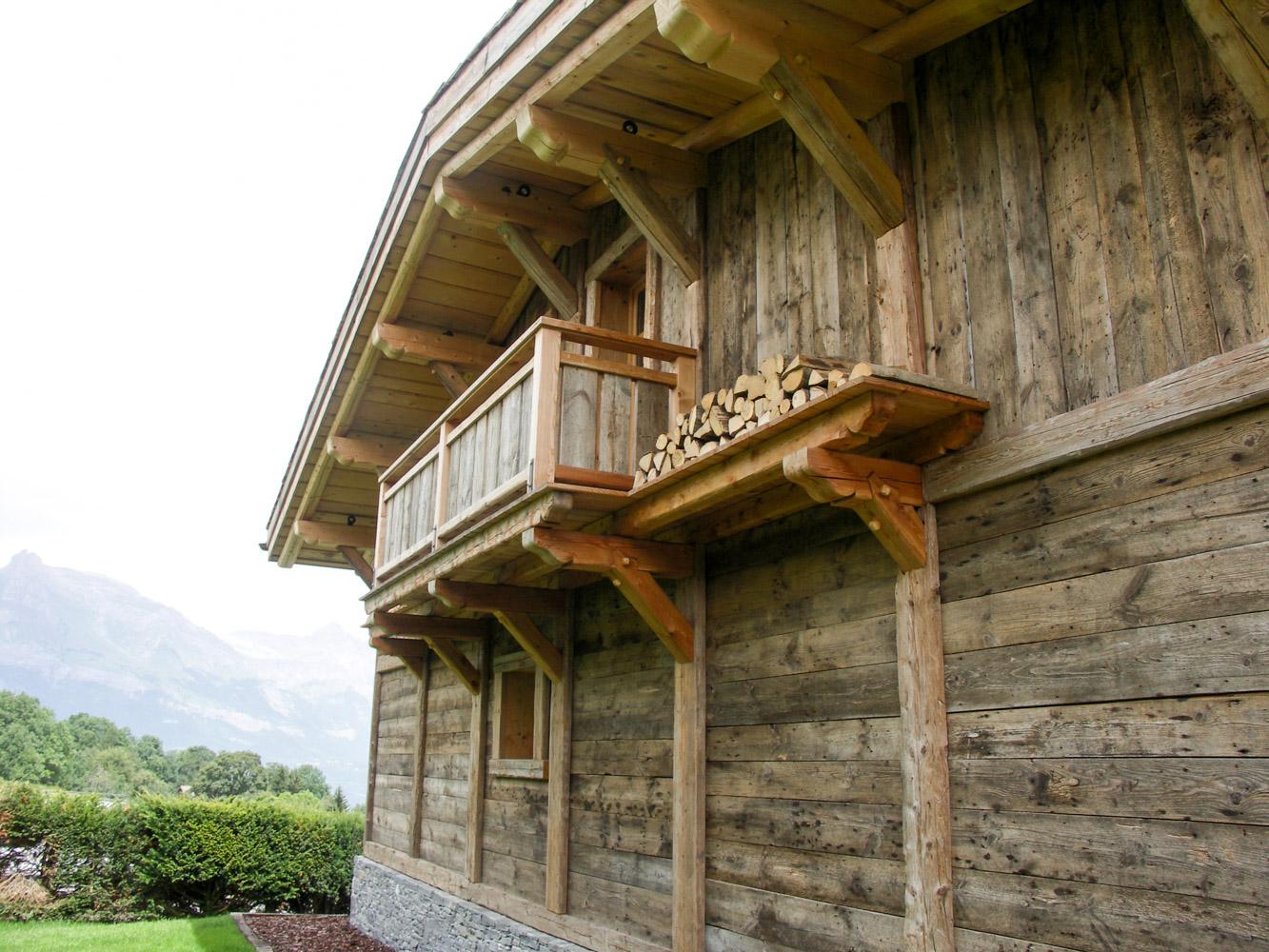 Charpente bottollier cordon haute savoie 74 menuiserie for Plan de balcon exterieur